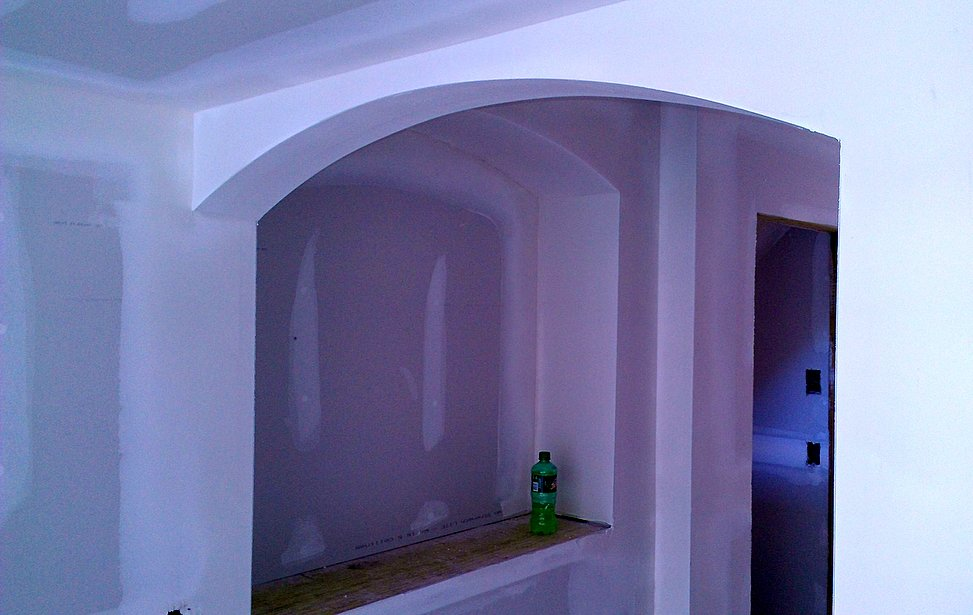 drywall installation of arches