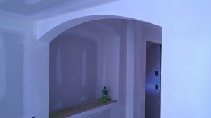 Arches by spackling company McEvoy Drywall